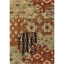 "4320 5x8 Kilim Patches Multi 5'3"" x 7'6"" American Heritage"
