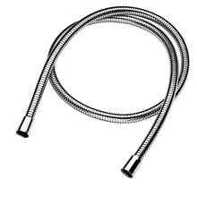 "Polished Nickel 59"" Braided hose"