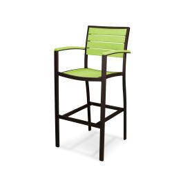 Polywood Furnishings - Eurou2122 Bar Arm Chair in Textured Bronze / Lime