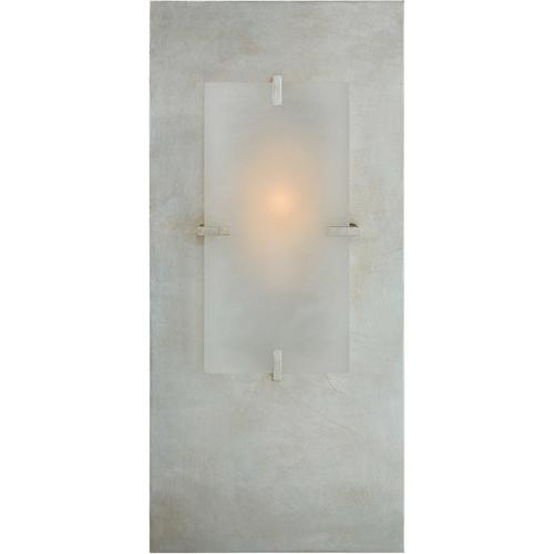 AERIN Dominica 1 Light 9 inch Burnished Silver Leaf Rectangle Sconce Wall Light