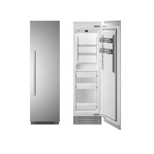 "24"" Built-in Freezer column - Stainless - Right hinge"