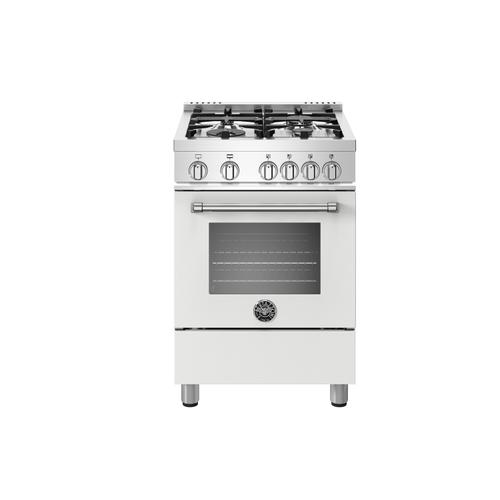 24 inch All Gas Range, 4 Burners Matt White