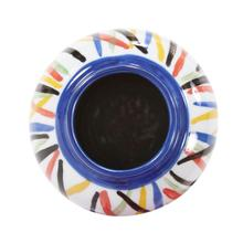 View Product - Color Web Ceramic Cylindrical Vase, Small
