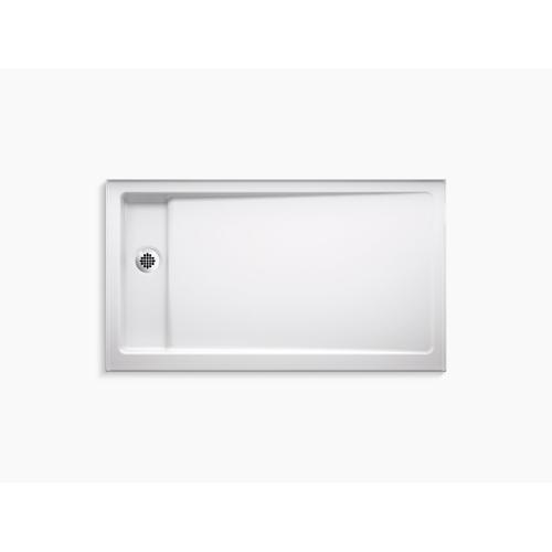 """Kohler - White 60"""" X 34"""" Single-threshold Shower Base With Left Offset Drain"""