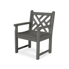 Slate Grey Chippendale Garden Arm Chair