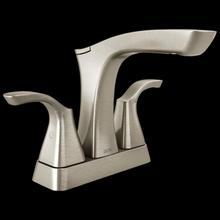 Stainless Two Handle Centerset Bathroom Faucet - Metal Pop-Up