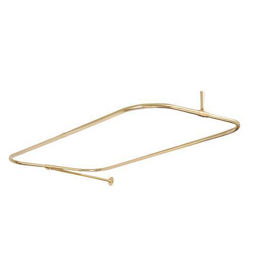 "24"" Rectangular Shower Rod with Supports - 54"" x 24"" / Polished Brass"