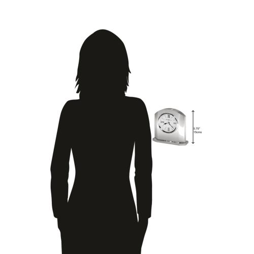 Howard Miller Lincoln Silver Alarm Clock 645753