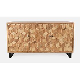 Geometrix 3 Door Accent Cabinet