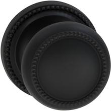 Interior Traditional Beaded Knob Latchset in (US10B Black, Oil-Rubbed, Lacquered)