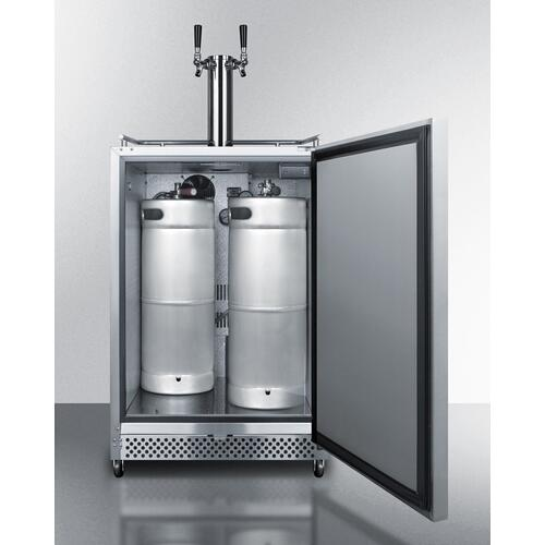 "Product Image - 24"" Wide Built-in Outdoor Kegerator"