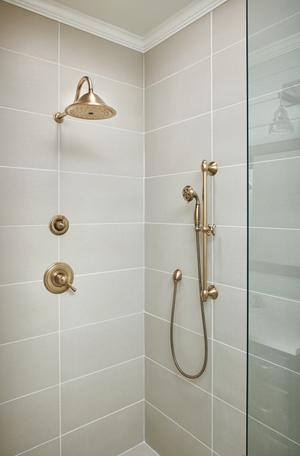 Champagne Bronze H 2 Okinetic ® 3-Setting Slide Bar Hand Shower Product Image
