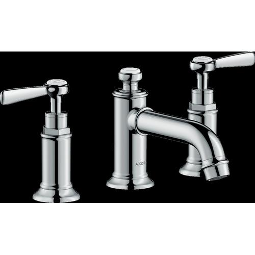 Chrome Widespread Faucet 30 with Lever Handles and Pop-Up Drain, 1.2 GPM