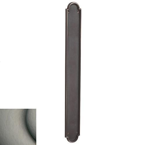 Baldwin - Antique Nickel San Francisco Push Plate
