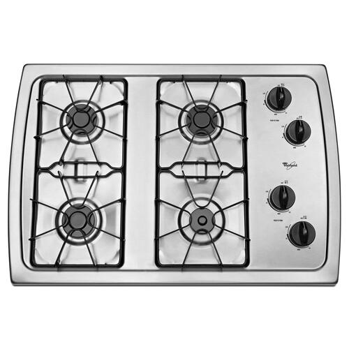 Whirlpool - 30-inch Gas Cooktop with 5,000 BTU AccuSimmer® Burner Stainless Steel