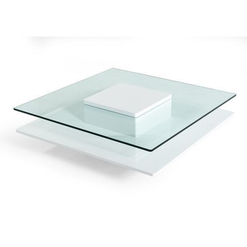 VIG Furniture - Modrest Emulsion - Modern White Glass Coffee Table
