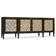 Living Room Sanctuary Four Door Mirrored Console- Ebony