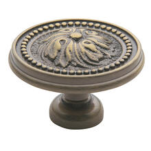 Satin Brass and Black Ornamental Knob