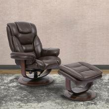 See Details - MONARCH - ROBUST Manual Reclining Swivel Chair and Ottoman
