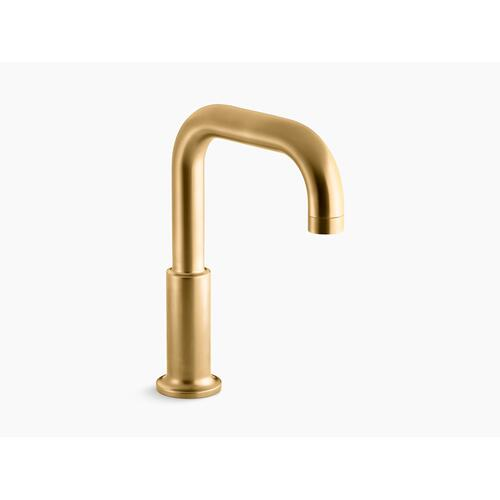 Vibrant Brushed Moderne Brass Deck-mount Non-diverter Bath Spout