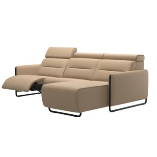 See Details - Stressless® Emily 2 seater Long Seat with left motor arm steel