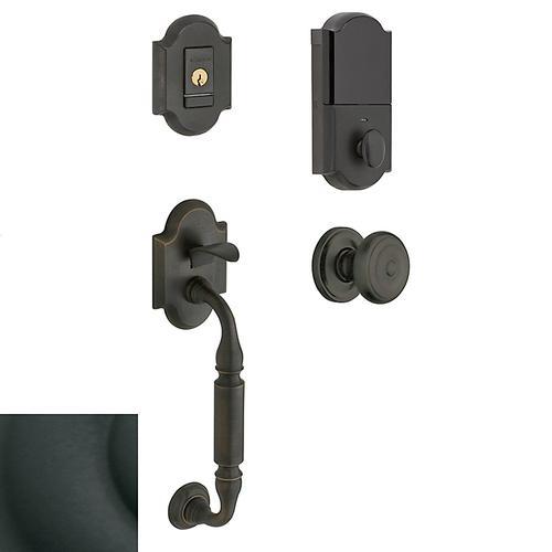 Satin Black Evolved Canterbury Knob Sectional Handleset