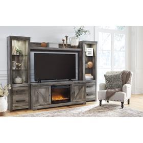 See Details - Wynnlow 5 Piece Entertainment Set W/Fireplace Insert Gray