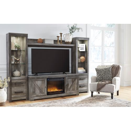Wynnlow Gray 5 Piece Fireplace Entertainment Center