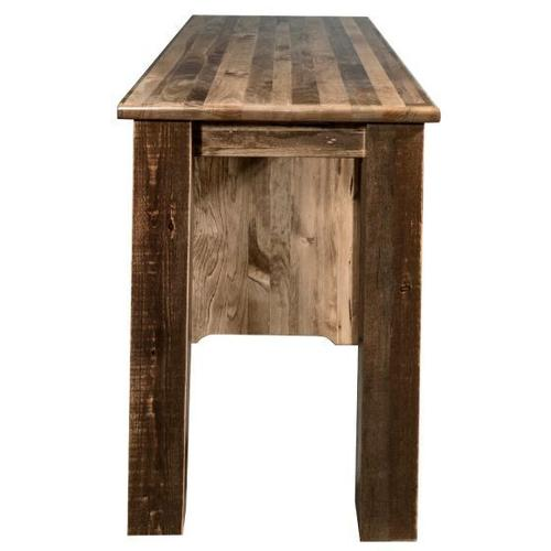 Homestead Collection Office Desk, Stained and Lacquered