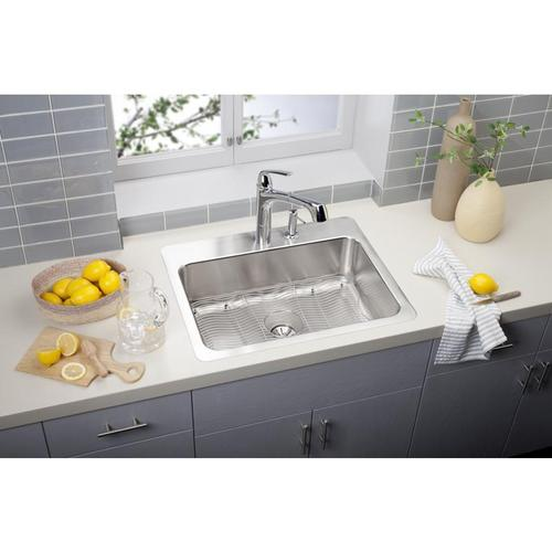 Elkay - Elkay Gourmet Single Hole Kitchen Faucet Pull-out Spray and Lever Handle with Hi and Mid-rise Base Options Chrome