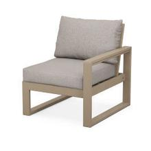 View Product - EDGE Modular Right Arm Chair in Vintage Sahara / Weathered Tweed