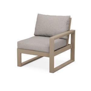 Polywood Furnishings - EDGE Modular Right Arm Chair in Vintage Sahara / Weathered Tweed