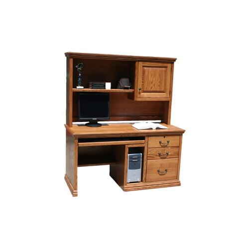 "O-T699 Traditional Oak 57"" 3-Drawer Computer Desk w/CPU Storage"