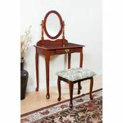 ACME Queen Anne Vanity Set - 02337CHERRY - Cherry