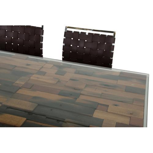 VIG Furniture - Modrest Santiago Modern Rectangular Wood Mosaic Dining Table