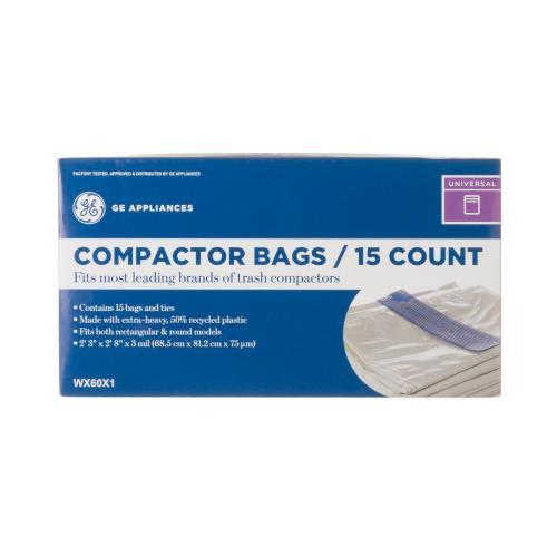 GE® Universal Trash Compactor Bags (15 Bags Per Pack), WX60X1