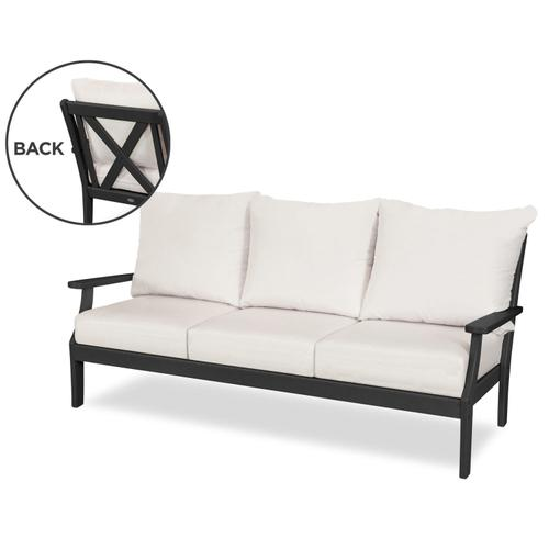 Black & Cast Currant Braxton Deep Seating Sofa