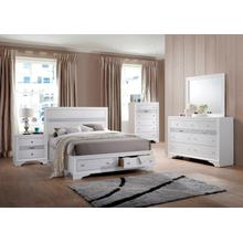 Logan Queen 4PC Bedroom Set, White
