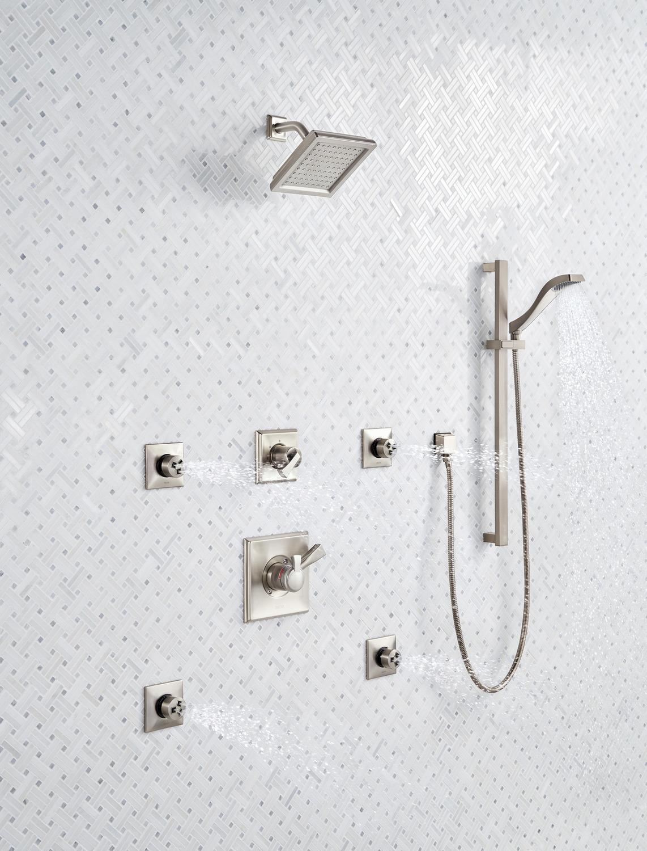 Delta Faucet T11851-CZ Dryden 3-Setting Shower Handle Diverter Trim Kit No Valve