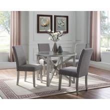 See Details - 5-piece Dining Set - Light Grey