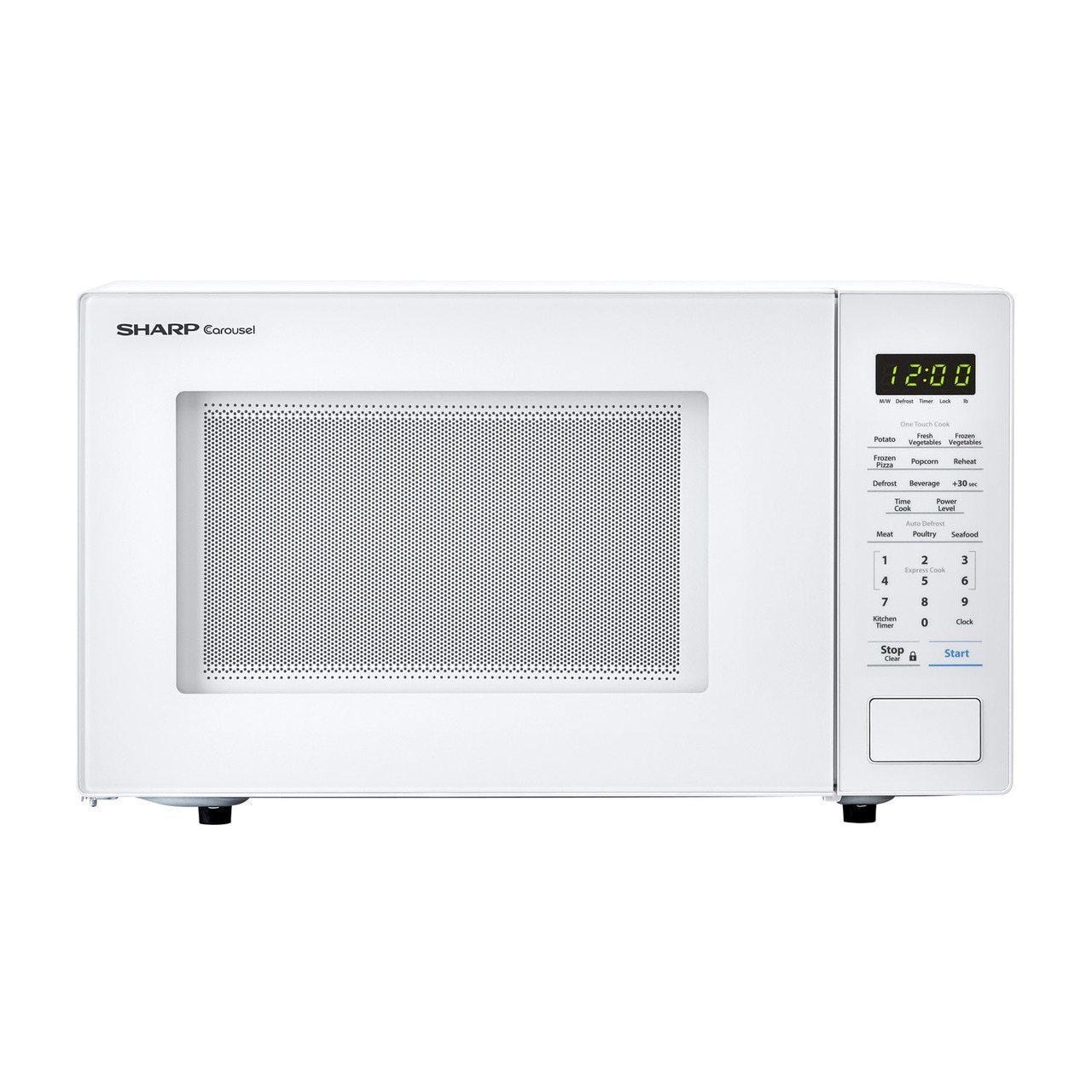 Sharp1.1 Cu. Ft. 1000w Sharp Countertop White Microwave