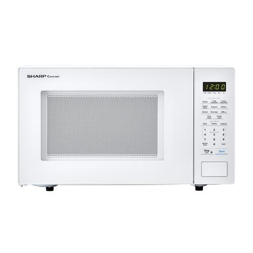 View Product - 1.1 cu. ft. 1000W Sharp Countertop White Microwave