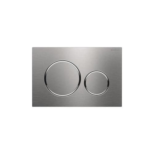 Sigma20 Dual-flush plates for Sigma series in-wall toilet systems Brushed stainless steel with polished accent, vandal-resistant Finish