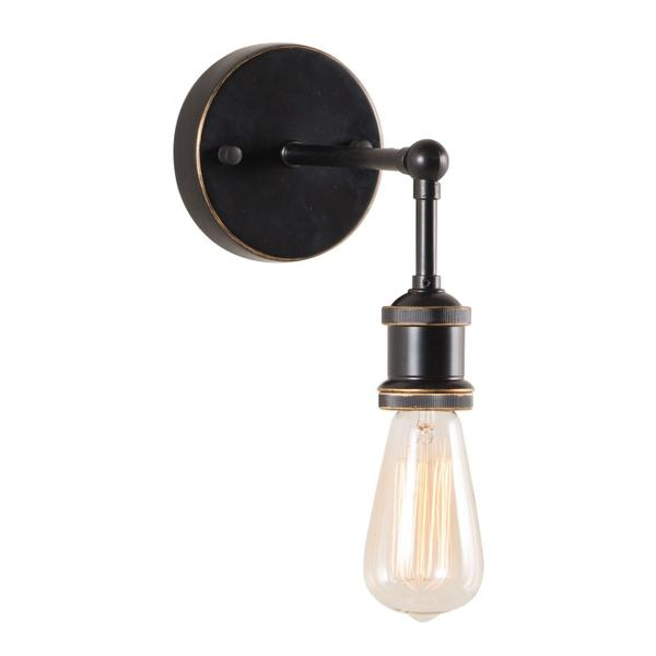 See Details - Miserite Wall Lamp Antique Black, Gold & Copper