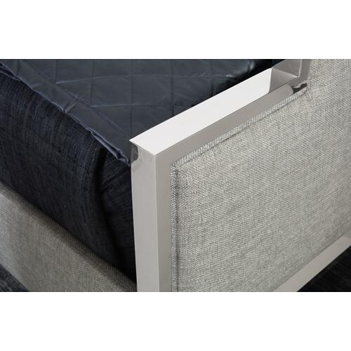 King Criteria Metal Upholstered Panel Bed