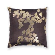 """L296 Chocolate Flora Pillow 18"""" X 18"""""""