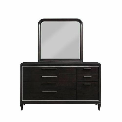 ACME Lorenzo Mirror - 28099 - Transitional - Mirror, Wood (Poplar+Pine), Wood Veneer (Cherry), Ply, PB - Espresso