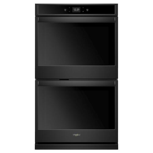 Whirlpool - 8.6 cu. ft. Smart Double Wall Oven with Touchscreen Black