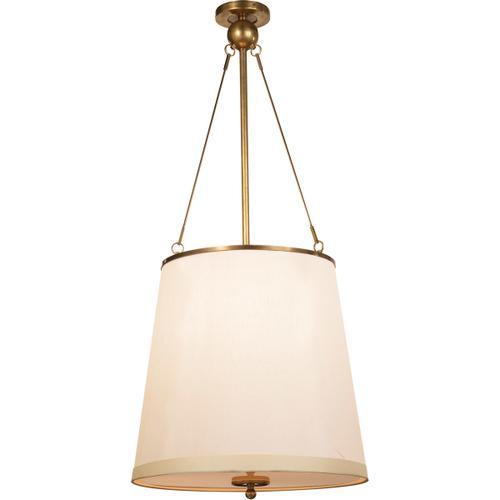 Barbara Barry Westport 3 Light 18 inch Soft Brass Hanging Shade Ceiling Light