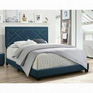 ACME Ishiko Eastern King Bed - 20857EK - Dark Teal Fabric